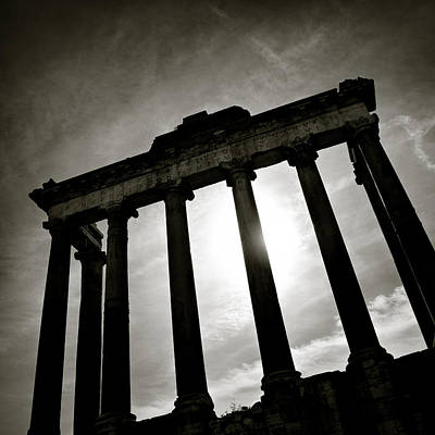 Historic Architecture Photograph - Roman Forum by Dave Bowman