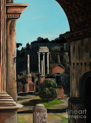 Painting - Roman Forum by Nancy Bradley