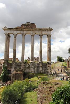 Palatine Photograph - Roman Forum by Nancy Ingersoll