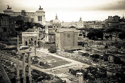 Temple Of Castor And Pollux Photograph - Roman Forum Survey by David Waldo
