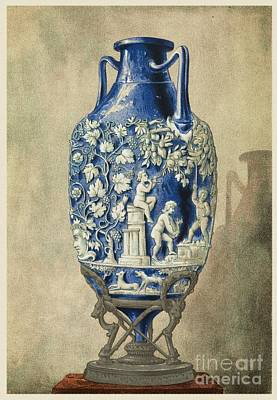 Roman Relic Glass Photograph - Roman Funerary Urn From Pompeii by Middle Temple Library