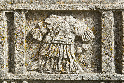 Roman High Relief In The Courtyard Art Print