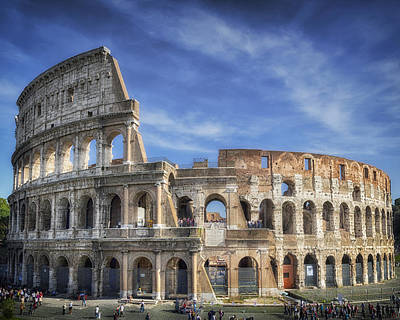 Brick Building Photograph - Roman Icon 8x10 by Joan Carroll