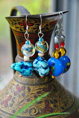 Pierced Ears Photograph - Roman Inspired Earrings  by ARTography by Pamela Smale Williams
