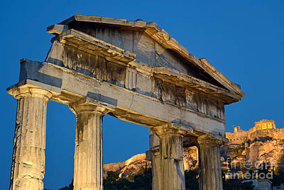 Voyage Photograph - Roman Market And Acropolis In Athens by George Atsametakis