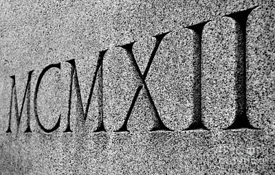 Photograph - Roman Numerals Carved In Stone by Staci Bigelow