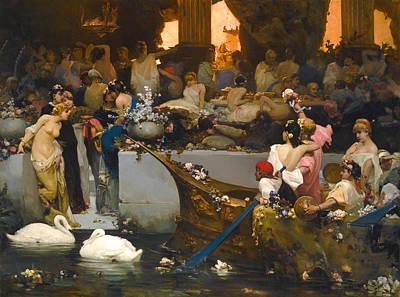 Orgy Painting - Roman Orgy by Vasily Alexandrovich Kotarbinsky