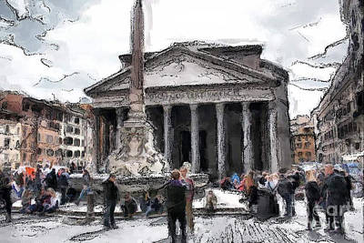 Photograph - Roman Pantheon by Tom Griffithe