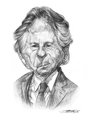 Film Maker Drawing - Roman Polanski by Sri Priyatham