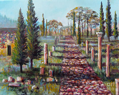 Painting - Roman Road by Lou Ann Bagnall