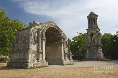 Roman Archaeology Photograph - Roman Ruins, France by John Shaw
