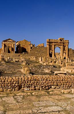Roman Ruins Of Sufetula, Tunisia Art Print by Bill Bachmann