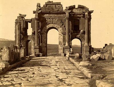 Berber Woman Photograph - Roman Ruins Thamugas, Arc De Triomphe, Algiers, Neurdein by Litz Collection