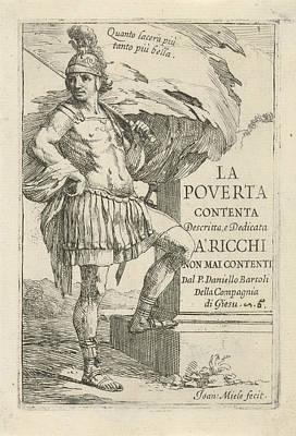 Roman Soldier, Jan Miel Art Print by Jan Miel