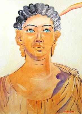 Roman Statue Coming Alive  Art Print by Geeta Biswas