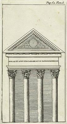 Dirk Drawing - Roman Temple In Pula, Jan Luyken, Hendrick And Dirk Boom by Jan Luyken And Hendrick And Dirk Boom