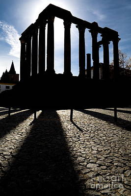 Architecture Photograph - Roman Temple Silhouette by Jose Elias - Sofia Pereira