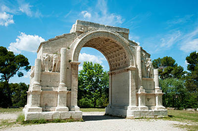 Provence Photograph - Roman Triumphal Arch At Glanum by Panoramic Images
