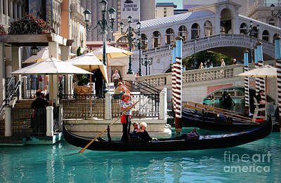 Photograph - Romance At The Venetian by Mary Lou Chmura