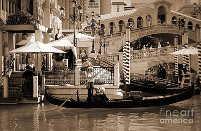 Photograph - Romance At The Venetian Sepia Tones by Mary Lou Chmura