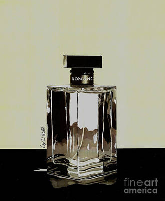 Glass Bottle Drawing - Romance by Cory Still