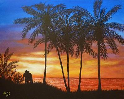 Painting - Romance In Paradise by Amelie Simmons