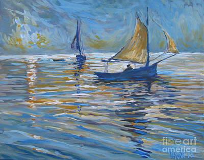 Bfa Painting - Romance by Vanessa Hadady BFA MA