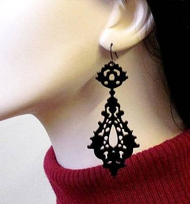 Laser Cut Jewelry Jewelry - Romance-victorian Lace Earrings by Rony Bank