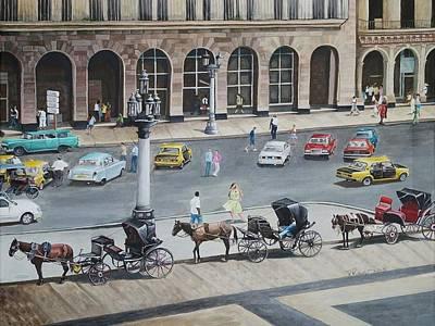 Romancing Havana Art Print by Pam Kaur