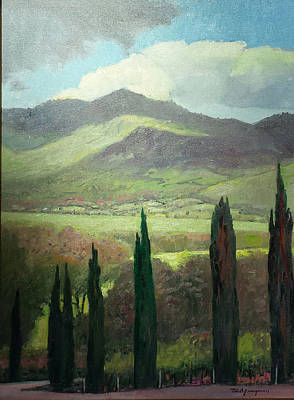 Napa Valley Vineyard Painting - Romancing The Valley by Paul Youngman