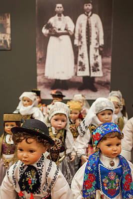 Ethnic Dolls Photograph - Romania, Transylvania, Sibiu, Casa by Walter Bibikow
