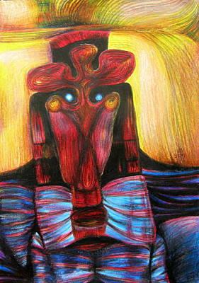 Romanian Mask Art Print by Simona Dancila