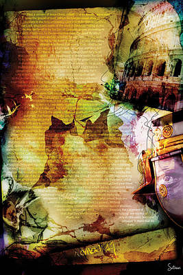 Crucify Digital Art Digital Art - Romans 1 by Switchvues Design