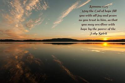 Romans 15 Verse 13 Art Print by Rose-Maries Pictures