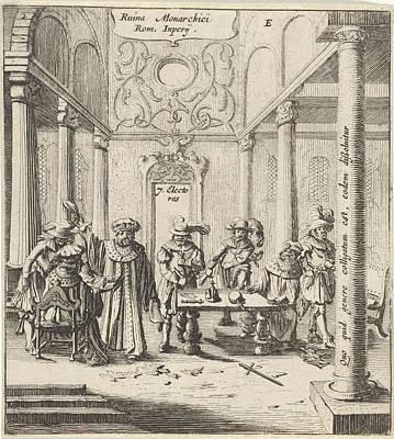 Tears Drawing - Romans In A Departure, Gillis Van Scheyndel by Gillis Van Scheyndel (i) And Gerhard Verstegen