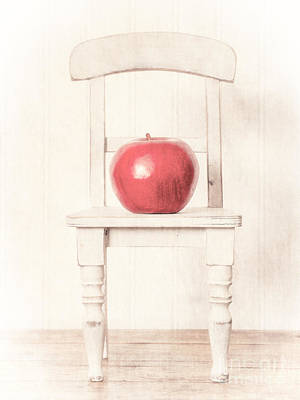 Chair Photograph - Romantic Apple Still Life by Edward Fielding