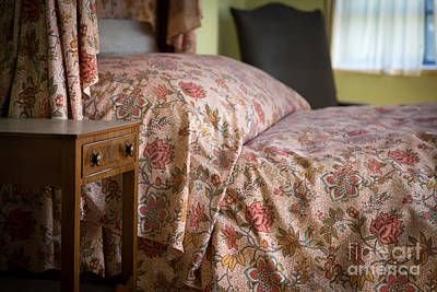 Bed Spread Photograph - Romantic Bedroom by Edward Fielding