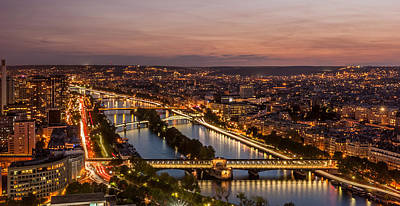 Photograph - Romantic City Of Paris At Night by Pierre Leclerc Photography