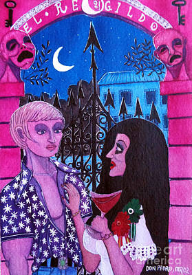 Romantic Couple Art Print by Don Pedro De Gracia