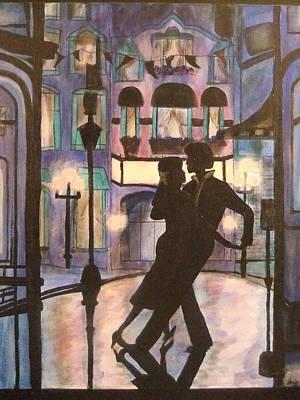 Romantic Dance Art Print by Lynne McQueen