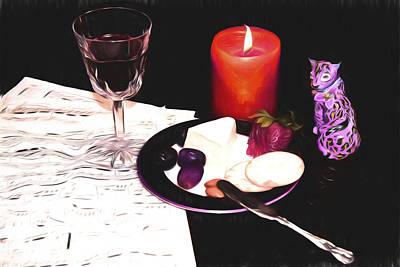 Romantic Evening With A Jaguar Art Print