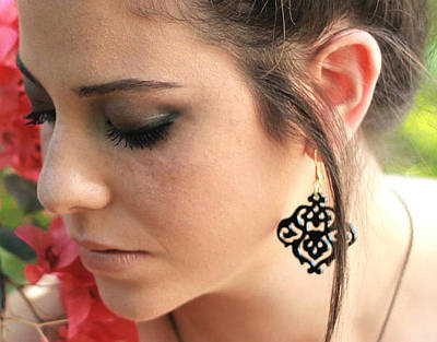 Laser Cut Jewelry Jewelry - Romantic Floral Earrings by Rony Bank