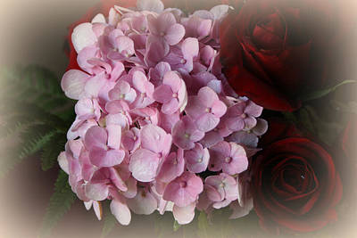 Art Print featuring the photograph Romantic Floral Fantasy Bouquet by Kay Novy