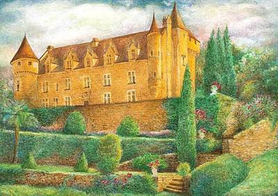 Romantic French Chateau Art Print