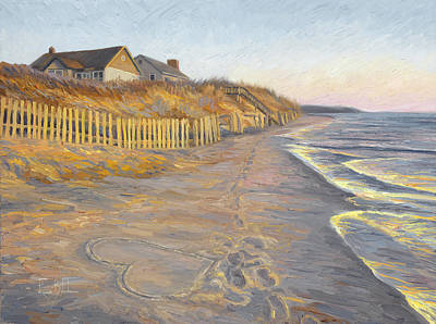 Wellfleet Painting - Romantic Getaway by Lucie Bilodeau