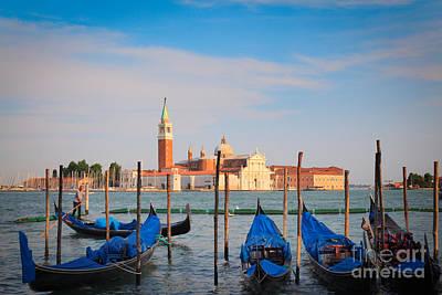 Piazza San Marco Photograph - Romantic Gondolas by Inge Johnsson