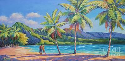 Hanalei Painting - Romantic Hanalei Bay by John Clark