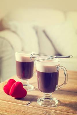Romantic Irish Coffees Art Print by Amanda Elwell