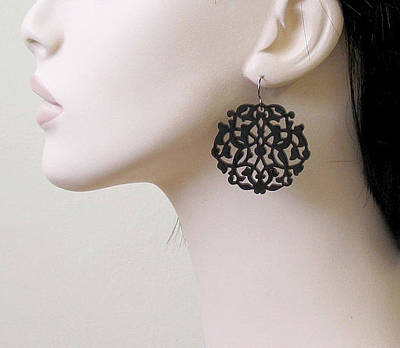 Laser Cut Jewelry Jewelry - Romantic Lace Earrings by Rony Bank