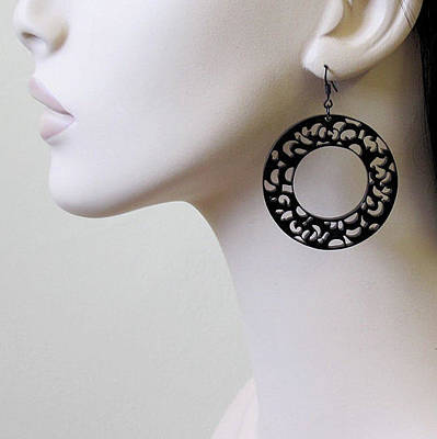 Laser Cut Gifts Jewelry - Romantic Lace Hoops Earrings by Rony Bank